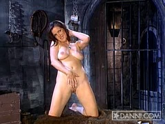 Kira Reed wide spread showing her tight cunt