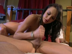 Alektra Blue rubbing the hard dick of her partner