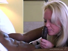 Alexis Golden hot milf blow the dick of a hot black guy