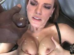Dana De Armond enjoy the cumshot on tits and face