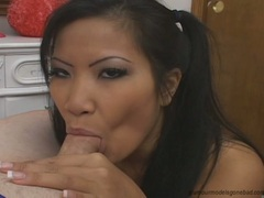 Christina Aguchi lusty babe love to chew hot man's meat