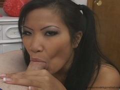 Christina Aguchi lusty babe love to chew hot man's meat