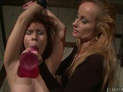 Katy Borman makes a hot babe to suck the cock