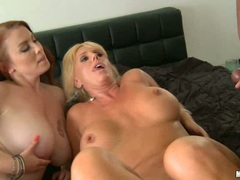 Samantha Silver licking the dick head with cum