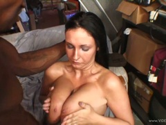 Big titted Bella Blaze gets her tits glazed with spunk