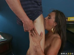 Claudia Valentine horny milf rub one hard dick out