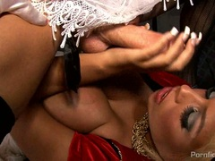 Cock crazy Bridgette B gets her mouth crammed with cock