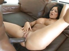 Angelica Heart is filled to the brim with a black cock