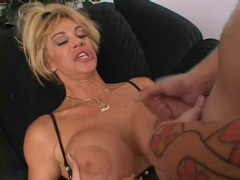 Gorgeous Kat Kleevage gets her tits glazed with spunk