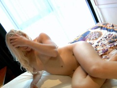 Lux Kassidy teases her hot pussy making it soaking wet