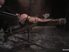 Whore Katja Kassin gets tormented with a hose