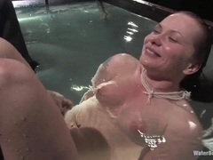 Katja Kassin gets tied up & dropped in a water tank