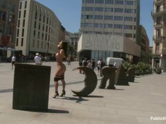 Franceska Jaimes naked in the street like a dirty whore