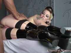 Awesome Candy Monroe is pounded up her wet snatch