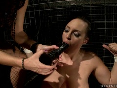 Alluring Mandy Bright puts a dildo into this bitch