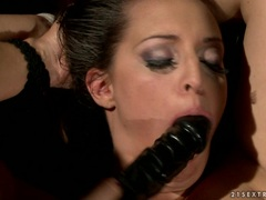 Mandy Bright toy fucks this tied up tarts wet cunt