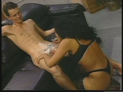 Slut Alicia Rio takes a razor to this dudes bush