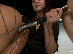 Slut Bobbi Starr torments these tarts with electricity