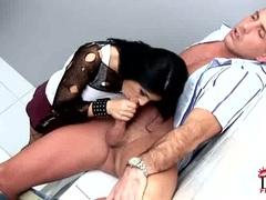 Slut Cory Babe drools on this throbbing skin flute
