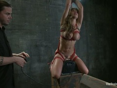 Alluring Felony get tied up & fucked by a sybian