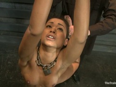 Blistering Skin Diamond is tied up & pleasured