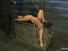 Scorching Skin Diamond is tied up & tormented