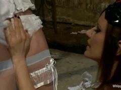 Kinky Bride Lorelei Lee is tied up & tormented