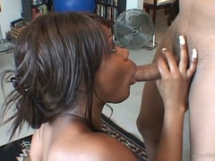 Adorable Megan Price rams a hard dick down her throat