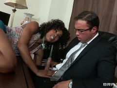 Whore Misty Stone gobbles down this hard fuck stick