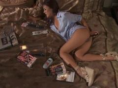 Nasty Kaylani Lei toys her tight butt hole
