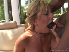 Massive black cock gets a mouth job from Avy Scott