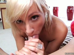 Lexi Swallow gets a pile of prickage in her mouth
