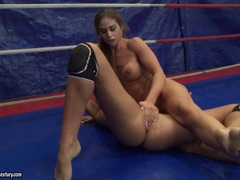 Ivana Sugar and Cathy Heaven wrestle each others twats