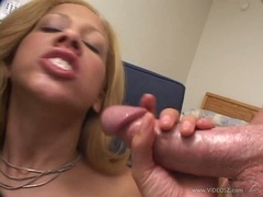 Sizzling Michelle Honey gets a mouth full off hard cock