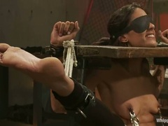 Babe Layla Storm gets tormented by Aiden Starr