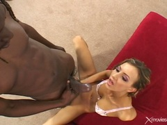 Luscious Tiffany Holiday gets a mouth full off cock