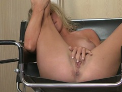 Saucy Ainsley Addison plays with her throbbing clit