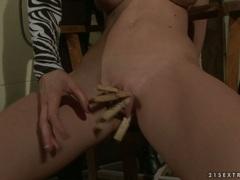 Slut Katy Borman torments this bitches piss flaps
