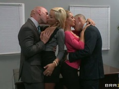 A business meeting with Nicole Aniston and Lexi Swallow