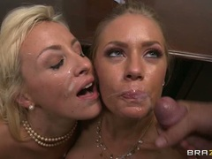 An office facial for Nicole Aniston and Lexi Swallow