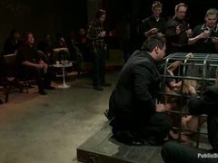 Crowd watches as Princess Donna is caged and vibed