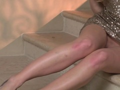Rampant Liz Ashley strips off her sexy little outfit