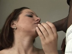 Whore Leenuh Rae takes a massive dick down her throat