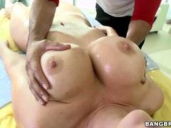 Jayden James gets oiled up for a sensual massage