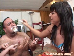 Whore Avy Lee Roth feeds this fatty a creampie