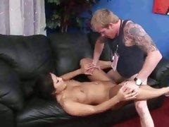 Asian Christina Aguchi enjoys a rough pussy pounding