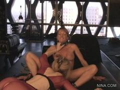Shayla Laveaux gets tongue fucked by Nina Hartley