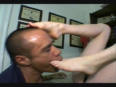 Sweetie Angelica Sin just loves to get her toes licked