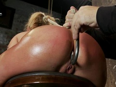 Tied Charisma Capelli gets a hook up her tight ass