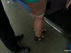 Kelly Divine is tied and humiliated in a store